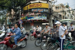 Crossing the Street in Ho Chi Minh City