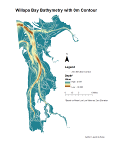 Willapa Bay Bathymetry and Tidal Fluxes